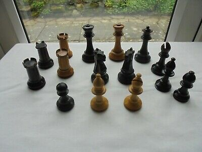 Staunton Pattern Chess Pieces For Spares. • 12.50£