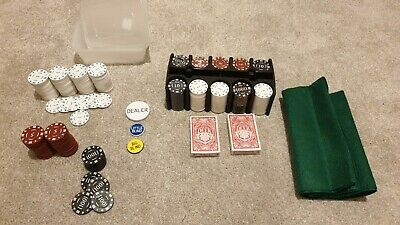 New Complete 200 Numbered Poker Chip Set + 141 Used Extra Chips • 6.50£