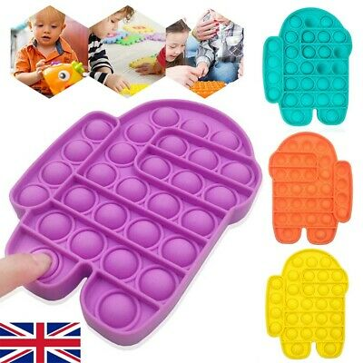 Among Us Pop Its Finger Fidget Toy Push Bubble Stress Relief Kids Pop It Game • 5.19£