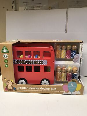 Early Learning Centre Wooden London Bus With Wooden Passengers • 22.95£