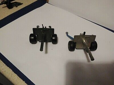 2 DIECAST LONE STAR MILITARY 25 POUNDER ARMY TOY CANNON        J • 5£