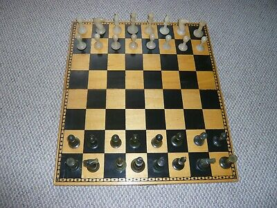 Chess Set Alabaster Pieces Wood  Box/board • 5£