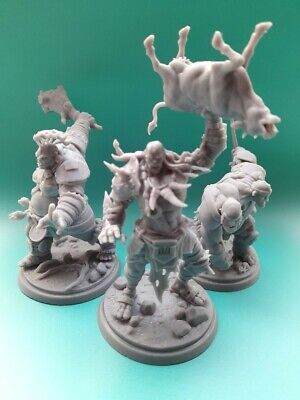 Stl Miniatures Giant Gang For Wargames And RPG 3 Hill Giants • 30£