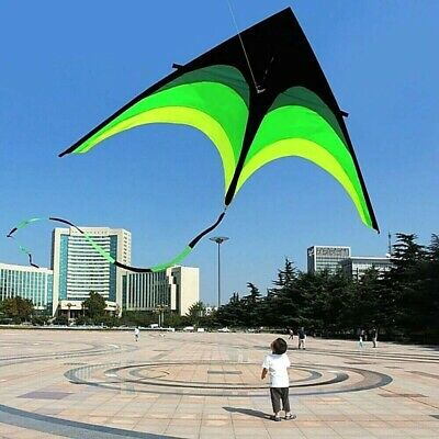 Super Large Delta Kite For Kids And Adults Single Line Easy Fun Fly Handle 200cm • 50£