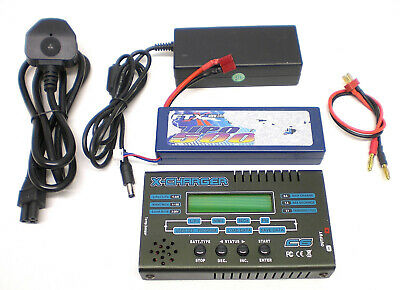 LiPo BALANCE CHARGER, MEASURES CELL RESISTANCE, + 5A PWR SUPPLY & 2S 5A LiPo     • 45£