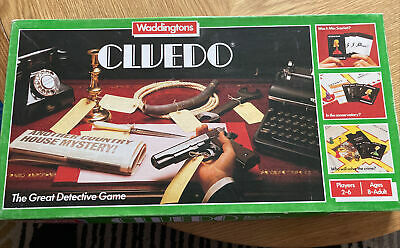 Cluedo The Great Detective Board Game 1975 Waddington's Vintage - Complete VGC • 12.95£
