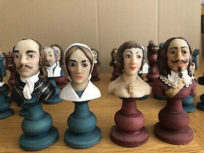 English Civil War Chess Set - Vary Rare -hand Painted - Used. See All Pictures • 90£