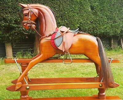A Stunning Large Wooden Rocking Horse  • 750£