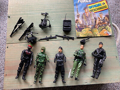 Vintage Palitoy Action Force Assorted 5 Figures And Guns • 15£