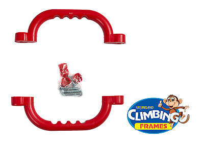 Red HAND GRIPS GRAB HANDLES (Set Of 2) Climbing Frame Playhouse Tree House • 6.89£