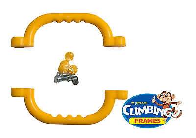 Yellow HAND GRIPS GRAB HANDLES (Set Of 2) Climbing Frame Playhouse Tree House  • 5.89£