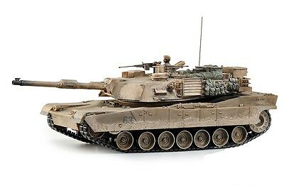Large Scale RC M1A2 Abrams Tank  Desert Camo Upgraded Premium Label Version - Ho • 147.09£