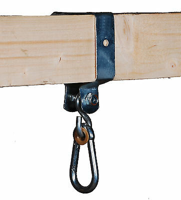 2 SWING HOOKS 90x90mm FOR SQUARE WOOD CLIMBING FRAME HAPPY PLAYGROUNDS • 14.99£