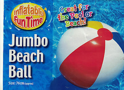 Inflatable GIANT 76cm PANEL Beach Ball Holiday Swimming Pool Summer Party Water • 3.99£