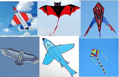 Kite Childrens Single Line Kites,large Design Multi Choice Outdoor Activity Uk • 12.99£