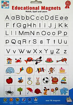 Kids Learning Educational MAGNETIC Letters & Pictures Fridge Magnets Alphabet • 2.49£