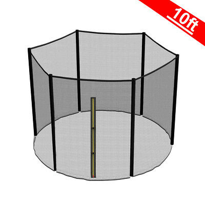 10FT 6 Pole Trampoline Replacement Safety Net Enclosure Surround Outside Netting • 25.95£