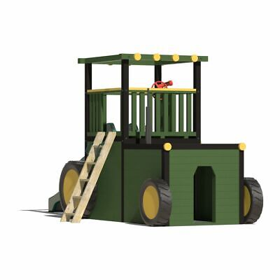 TRACTOR CLIMBING FRAME, Wave Slide, 1.2m High Platform, Reinforced Rock Wall  • 2,365£