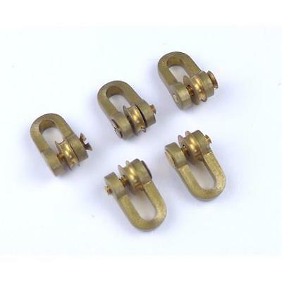 5 X Aero Naut Brass Shackles With Roller Model Boat Accessories • 21.95£