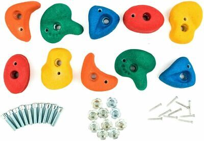Set Resin Rock Hold (not Plastic) Bolt On Wall Grab Stone Climbing 5 10 15 20 25 • 49.99£