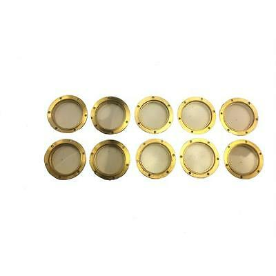 10 X Caldercraft Brass Flanged Glazed Portholes 16mm For Model Boats • 10.95£