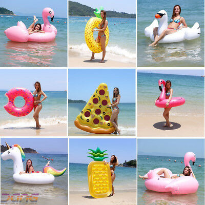 Inflatable Giant Swim Pool Floats Raft Swimming Fun Water Sports Beach Toy UK • 5.47£