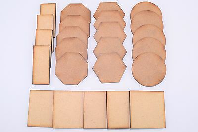 2mm MDF Laser Cut Wargaming Base Bases For All Scales Periods And Genres Squad • 2.25£