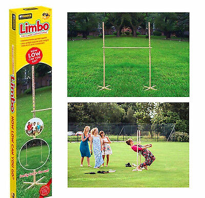 Garden Wooden Limbo Game Party Outdoor Indoor Kids Adults Fun Family Game 1.7m • 17.95£