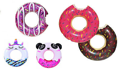 Inflatable DONUT Swim Ring Kid Adult Swimming Pool Holiday Summer Doughnut Play • 3.99£