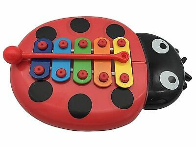 BEETLE XYLOPHONE 5-Note Red Musical Toy Baby Kids Child Development Wisdom UK • 1.99£