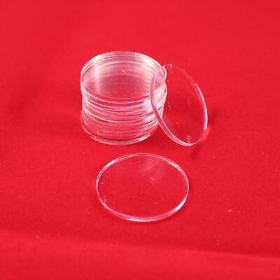 ROUND (CIRCLE) 25mm TRANSPARENT / CLEAR ACRYLIC BASES For Roleplay Miniatures • 7.15£