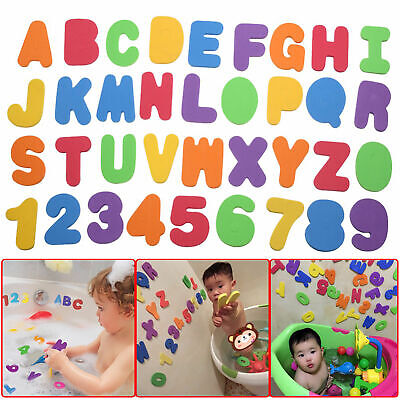 36 Pcs Foam Bath Numbers And Letters Child 123 Abc Kids Bath Toy Water Fun Uk • 5.99£