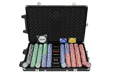 Tournament Poker Chips - 1000 Piece Numbered Poker Set In Low Numbers • 99.99£