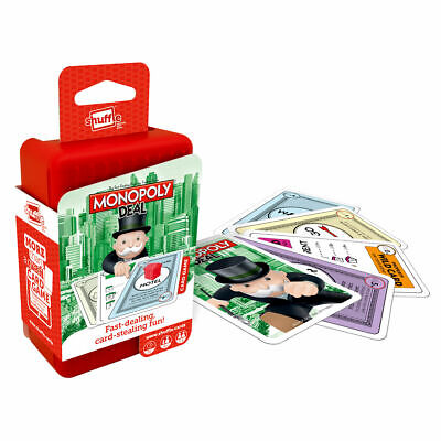 Shuffle Monopoly Deal Card Game - Fast-Playing Travel Pack Word Game • 19.99£