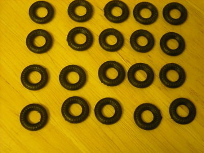 15mm Ribbed Dinky Replacement Tyres Pack Of 20  K & R Replicas • 2.75£