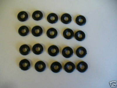 18mm Ribbed Dinky Replacement Tyres Pack Of 20  K & R Replicas • 3£