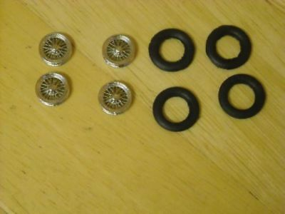 1/43rd Scale Chrome Wire Wheels By K&R Replicas For Cars With 16  Wheels  • 3£