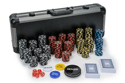 New Orleans Poker Chips Set - 11.5g 500 Piece Numbered Poker Chip & Accessories • 74.99£