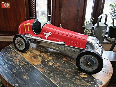 RED BB KORN VINTAGE RACING CAR REPLICA. Tether Car, Authentic Models. Stunning • 399£