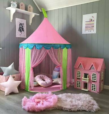 Girls Princess Fairy Castle PLay Tent Teepee Playhouse Kid Indoor Hexagon Wigwam • 23.49£