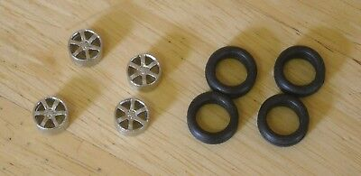 1/43rd Scale 6 Spoke Alloy Wheels By K&R Replicas For Cars With 16  Wheels • 3.25£