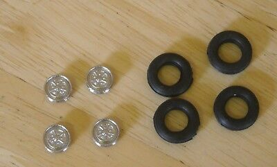 1/43rd Scale 15  Rostyle  Wheels  And Tyres By K&R Replicas For Cars  • 2.75£
