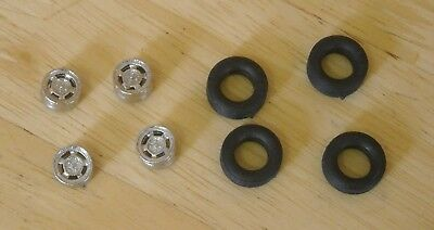 1/43rd Scale 15   Ventilated Mag Alloy Wheels  And Tyres By K&R Replicas  • 2.75£