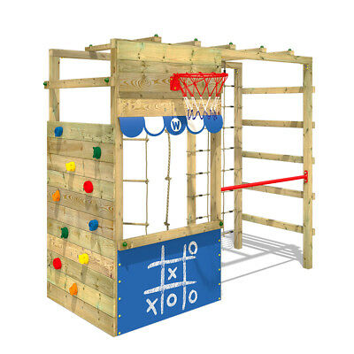 Wooden Climbing Frame  WICKEY Smart Action  With Shop Counter And Monkey Bars • 339.95£
