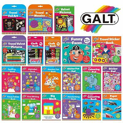 Galt Activity Books For Kids - Colouring Sticker Handwriting Numbers Alphabet • 3.49£