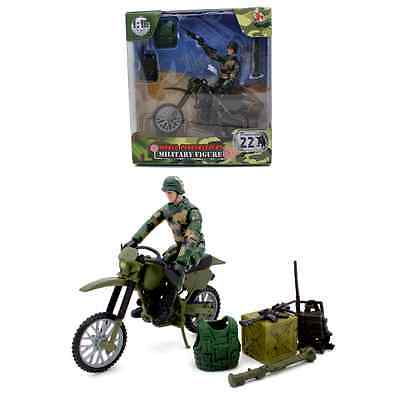 World PeaceKeepers Military Figure With Army Style Dirt Bike 3+ Years • 9.99£