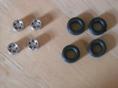 1/43rd Scale  Chromed Wolfrace Wheels By K&R Replicas • 3.25£