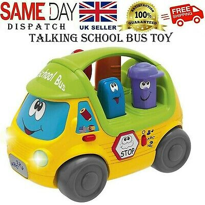 Talking School Bus Toy Chicco With Dashing Style Assorted Colours Toy For Kids • 29.95£