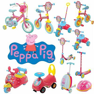 Peppa Pig Scooters, Bikes, Helmets, Trikes And More! Ride With Peppa Pig! • 49.95£