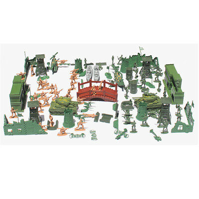 130pcs WWII Military Model Playset Toy 5cm Soldier Army Men Action Figures • 11.04£